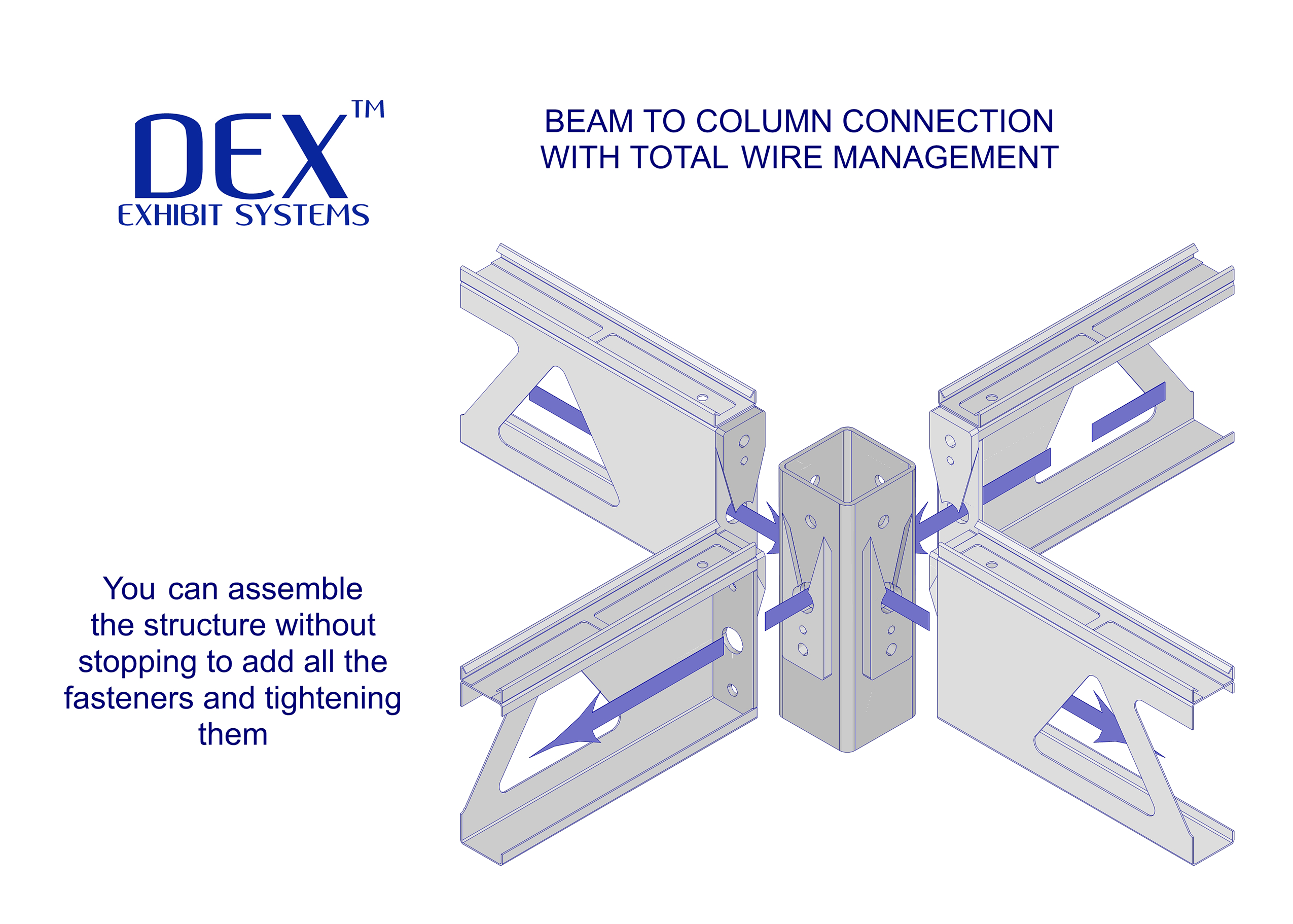 SR 2 Beam to Column wire management