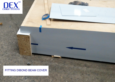 Fitting Dibond beam cover