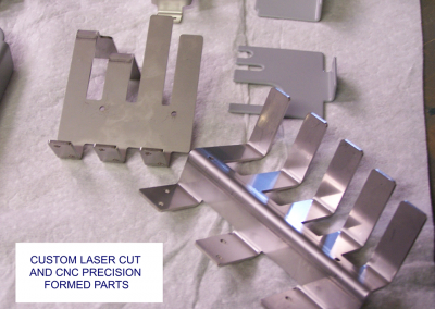Laser cut and CNC precision formed parts