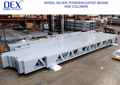 Wheel Silver Powdercoated Beams and Columns