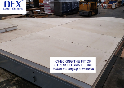 Checking the fit of the Stressed Skin Deck panels