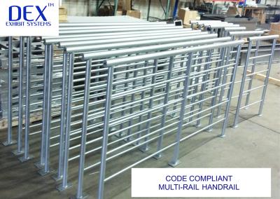 Code Compliant multi-rail handrail