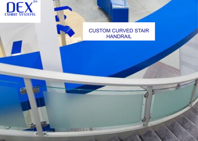 Custom Curved Stair Handrail