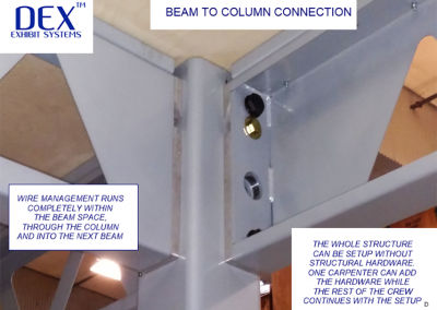 Drop on Beam to column connection
