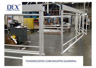 Powdercoated Curb Mounted Guardrail