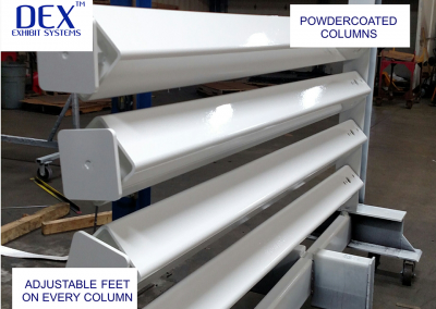 Powdercoated columns