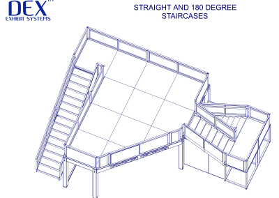 Straight and 180 degree Stairs