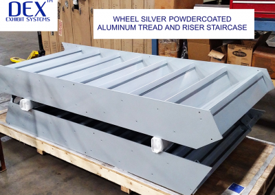 aluminum tread and riser staircase
